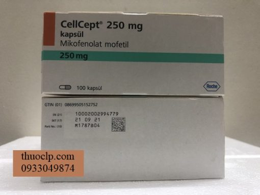Thuoc CellCept 250mg Mycophenolate mofetil ngua thai ghep tang (4)