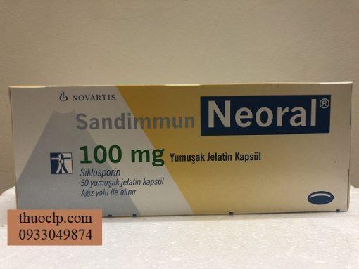 Thuoc Neoral 100mg Ciclosporin ngan ngua thai ghep tang (2)