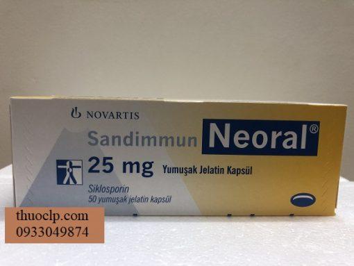 Thuoc Neoral 25mg Ciclosporin ngan ngua thai ghep noi tang (1)