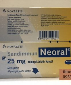 Thuoc Neoral 25mg Ciclosporin ngan ngua thai ghep noi tang 2 1