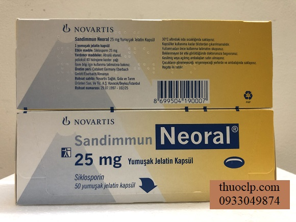 Thuoc Neoral 25mg Ciclosporin ngan ngua thai ghep noi tang (2)