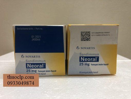 Thuoc Neoral 25mg Ciclosporin ngan ngua thai ghep noi tang (3)