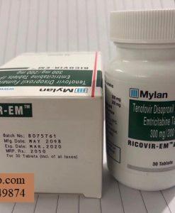 Thuoc Ricovir Em Tenofovir 300mg Emtricitabine 200mg chong phoi nhiem HIV (4)