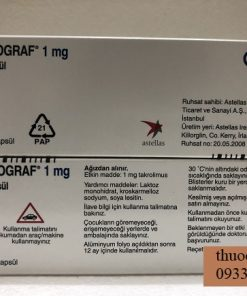 Thuoc Prograf 1mg Tacrolimus ngua thai ghep than gan 2