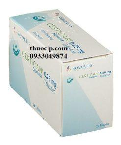Thuốc Certican 0,25mg & 0,75mg Everolomus điều trị dự phòng thải ghép nội tạng (4)