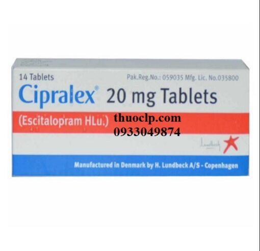 Thuốc Cipralex 20mg Escitalopram điều trị trầm cảm và rối loạn lo âu (1)