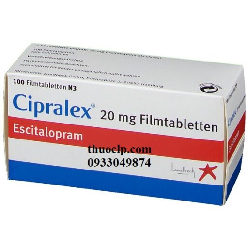 Thuốc Cipralex 20mg Escitalopram điều trị trầm cảm và rối loạn lo âu (2)