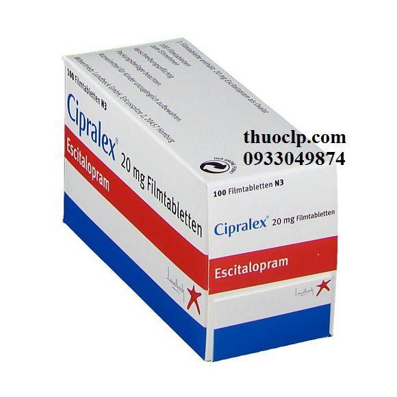 Thuốc Cipralex 20mg Escitalopram điều trị trầm cảm và rối loạn lo âu (3)