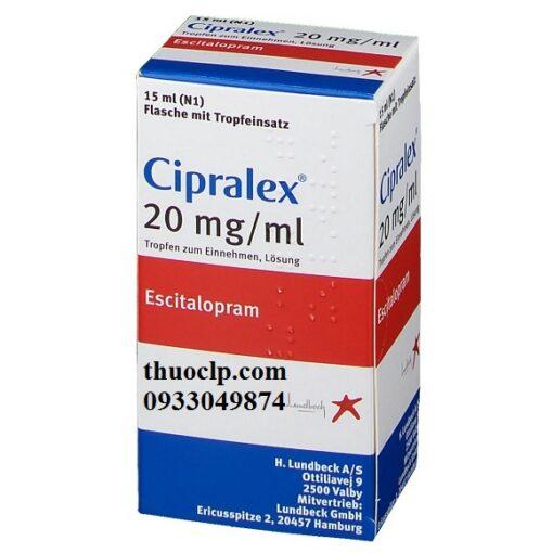 Thuốc Cipralex 20mg Escitalopram điều trị trầm cảm và rối loạn lo âu (5)