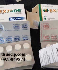 Thuốc Exjade 125mg, 250mg & 500mg Deferasirox điều trị quá tải sắt (1)