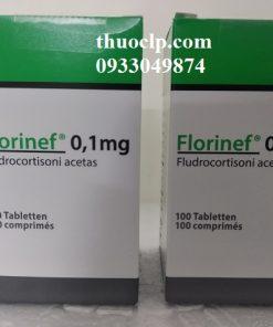 Thuốc Florinef 0.1mg Fludrocortison acetate điều trị suy vỏ thượng thận (1)