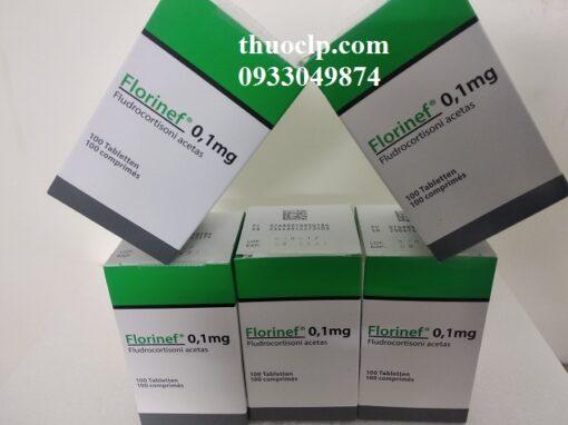 Thuốc Florinef 0.1mg Fludrocortison acetate điều trị suy vỏ thượng thận (2)