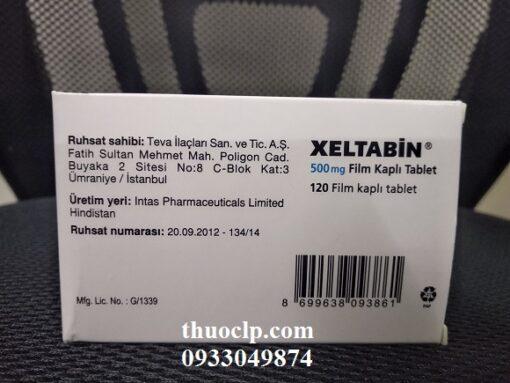 Thuốc Xeltabine 500mg Capecitabine điều trị ung thư trực tràng (2)