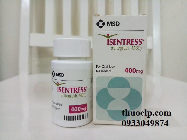 Thuốc Isentress 400mg Raltegravir điều trị HIV (2)