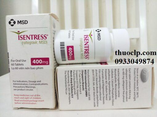 Thuốc Isentress 400mg Raltegravir điều trị HIV (4)