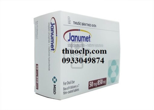 Thuốc Janumet 50/850mg Metformin và Sitagliptin điều trị bệnh đái tháo đường (2)