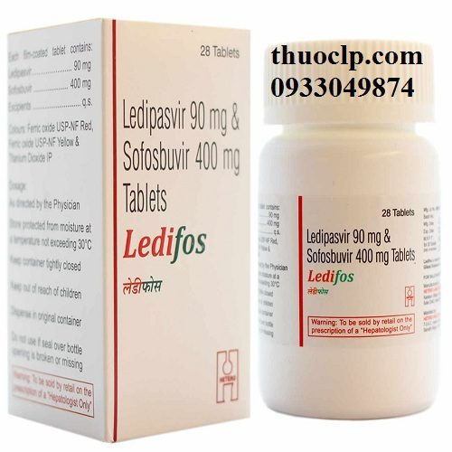 Thuốc Ledifos 90mg/400mg Ledipasvir và Sofosbuvir điều trị viêm gan C (2)