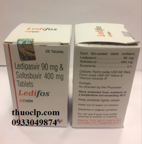 Thuốc Ledifos 90mg/400mg Ledipasvir và Sofosbuvir điều trị viêm gan C (5)