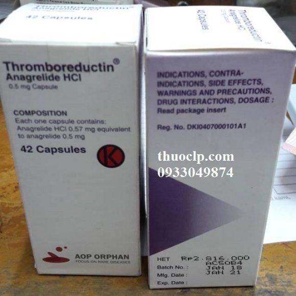 Thuốc Thromboreductin 0,5mg Anagrelide HCL điều trị tăng tiểu cầu (2)