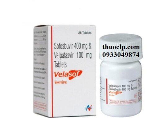 Thuốc Velasof chứa hoạt chất Velpatasvir 100mg, Sofosbuvir 400mg điều trị viêm gan C (4)